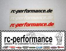 Werbe Aufkleber von rc-performance 3 Stk. FG Hurrax MCD Jamara rcp Carson CF