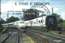 Sao Tome e Principe block354 (complete issue) used 1996 Railway