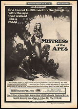 MISTRESS OF THE APES__Original 1978 Cannes Trade AD_teaser poster__JENNY NEUMANN