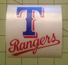 Texas Rangers Decal For Your Yeti Rambler Tumbler Colster