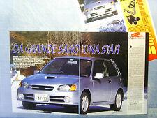 AUTO996-RITAGLIO/CLIPPING/NEWS-1996-TOYOTA STARLET GLANZA V - 3 fogli