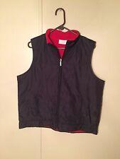 Ladies *Liz & Co.* Liz Claiborne Black Quilted Vest, Size L