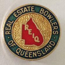 Real Estate Bowlers Of Queensland Club Badge Rare Vintage (K6)