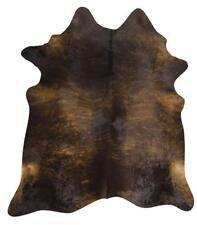 Exquisite Natural Cow Hide Rug, Dark Brindle