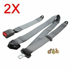 2pieces For Infiniti Auto Grey 3 Point Harness Fixed Safety Strap Belt Seatbelt