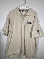 HARLEY DAVIDSON Bloomington Indiana Men's Cream Polo Shirt 3X XXXL Short Sleeve