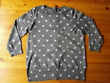 Boden Cashmere blend sweater top jumper grey button back. Hardly worn. Size 14