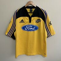 Wellington Hurricanes Adidas Super 14 2005 Rugby Jersey Yellow Mens 2XL XXL