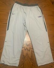 NIKE DRI-FIT LSU TIGERS PLAYER ISSUED DECOSTER TRAINING PANTS MENS SIZE 4XL RARE