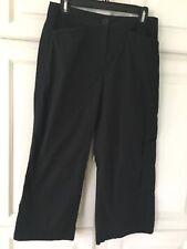 Eileen Fisher ~ Cotton Blend ~ Black ~ Pants ~ X Small ~ Cropped ~ Wide Leg ~EUC