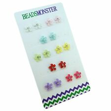 CRYSTAL STAR MAGNETIC CLIP ON STUDS EARRINGS FOR KIDS GIRLS WOMENS MOTHERS