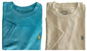 Genuine Ralph Lauren unisex T shirt crew neck 2 pack age 8 - 10  stock clearance