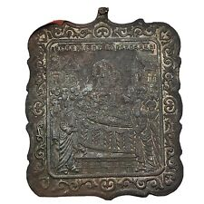 Late Or Post Medieval European Brass Holy Relic Orthodox Christian Charm Old B