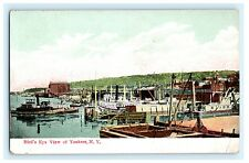 Birds Eye View Yonkers New York NY Postcard Westchester County J. Stern Unused
