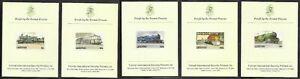 LESOTHO 1984 RAILWAYS/LOCOMOTIVES SET OF PROOFS ON CARDS. SCARCE.