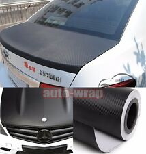 "Bidding 12"" x 60"" - Car 3D Carbon Fiber Vinyl Wrap Sheet Sticker Black Air Free"