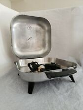 "🚩 Vintage 1950s Sunbeam 12"" Electric Skillet Frying Pan High Dome S31L-B6 Vrc-7"