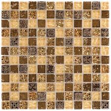 Naturstein Glasmosaik Maya Gold Wand Küche Boden Fliesenspiegel |1Matte|ES-78301