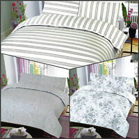 Ultra Soft 100% Egyptian Cotton T-200 Printed Duvet Cover Set with Pillowcases