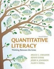 Quantitative Literacy: Thinking Between the Lines. Crauder et al. 2 Ed (2015) HC