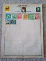 New Zealand Vintage Stamp Collection - Extracted from Stanley Gibbons Album 29th