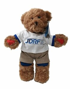"""Rufus The Bear With Diabetes JDRF 14"""" Cuddly Child's Plush New With Tags"""
