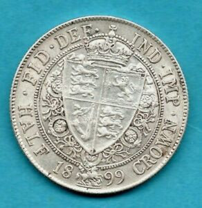 1899 HALFCROWN SILVER COIN. QUEEN VICTORIA VEILED HEAD. IN LOVELY CONDITION.