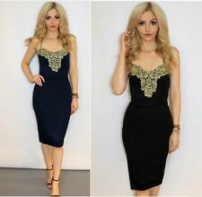 Unbranded Lace Patternless Round Neck Dresses for Women