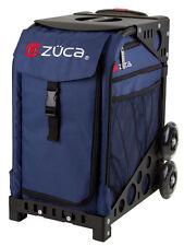 ZUCA Bag MIDNIGHT Insert & Black Frame w/Flashing Wheels - FREE SEAT CUSHION