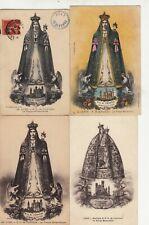 Lot de 4 cartes postales anciennes LYON notre-dame de fourvière vierge 2