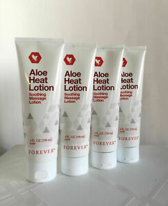 Forever Living Aloe Heat Lotion 4 fl.oz (118 ml)   Bulk Set of 4 Heat Lotions