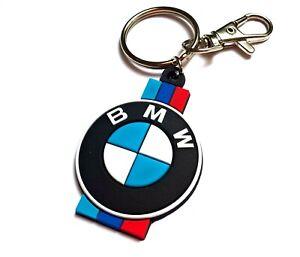 High quality rubber keychain for BMW - 2 sides key fob, 3 stripes