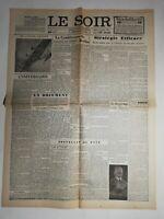 N486 La Une Du Journal Le Soir 9 nove 1943 la conférence de Berlin