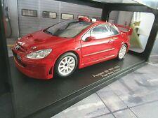 PEUGEOT 307 WRC Rallye plain body red rot 2005 RAR 80557 S-PREIS AUTOart 1:18