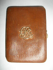 Antique Victorian French GUSTAVE KELLER Paris leather 18k gold luxury card case