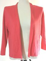 Liz Claiborne Women's Open Front Cardigan Sweater Size Large Teaberry New
