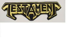 set of 2 Large Testament Vintage Iron Patch 80's Heavy Metal Licensed 9.5""