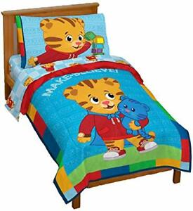 Toddler Bedding Set Kids Daniel Tiger Blue Boy Gift Soft Comforter Sheet New