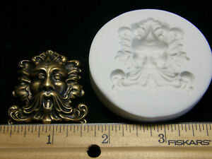 Green Man Face Polymer Clay Mold (MD1302)