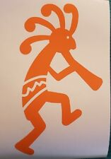 Handcrafted Native American Kokopelli Orange Vinyl Decal Outdoor/Indoor NEW 5.5""