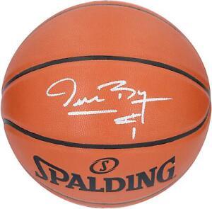 Muggsy Bogues Charlotte Hornets Signed Spalding 1988-02 T/B Team Logo Basketball