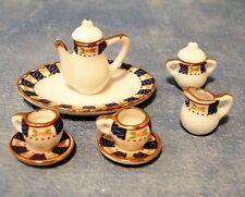 1:12 Set da tè Ovale Scala Casa delle Bambole Miniatura Set da tè in ceramica