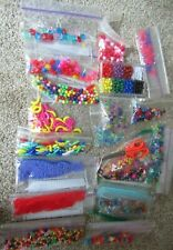 Box of assorted Plastic Beads for Crafts Assorted Styles & Colors