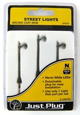 N Scale Arched Cast Iron Street Lights Set 3pk (30mA) - Woodland Scenics #JP5639