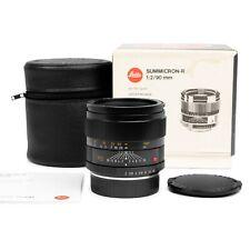 Leica R 90mm F2 Summicron-R Late v2 Pre-Asph 11254 Lens #34... EXC+++