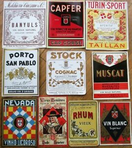 Vintage Wine & Liquor Bottle Labels 50 DIFFERENT 1920s-30s - GROUP 1 - Some Beer