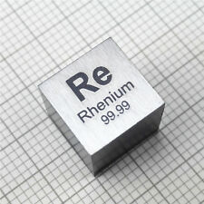 10mm Rhenium Metal Cube 99.99%min. 20grams min.Element Re Specimen With COA
