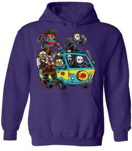 Halloween Funny Horror Scary Movie Pullover Hoodie