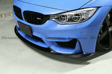 REV Front Bumper Bottom Lip Body Kits For BMW F82 F83 M4 3D Style Carbon Fiber