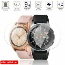 Tempered Glass For Samsung Galaxy Watch Screen Protector 46mm Smartwatch 2pc New